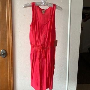 Mossimo Pink Tank Open Back Dress